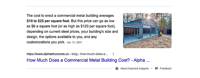 article in google search