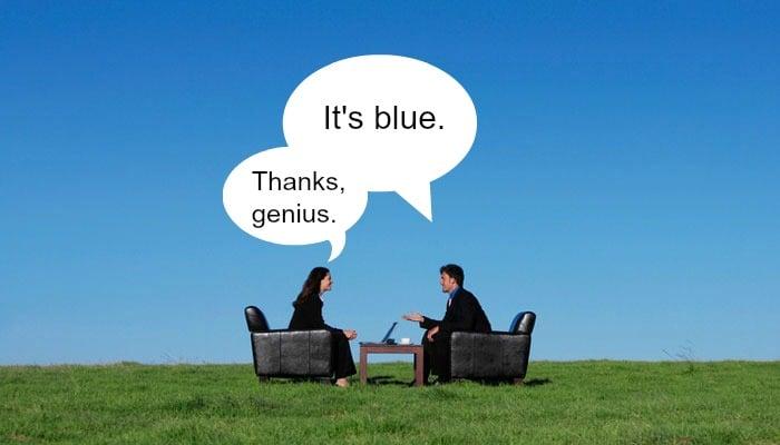 its blue