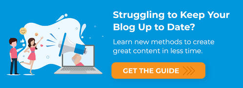 Are you struggling to keep your blog up to date? Create great content in less time.
